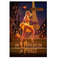 Fiftiesstore An American In Paris Pinup Metalen Bord 29 x 44,5 cm