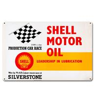 Fiftiesstore Shell Motor Oil Leadership Lubrication Metalen Bord 29 x 44,5 cm