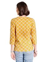 Your Look... for less! Dames Shirt oker geruit Größe