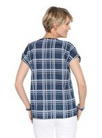 Your Look... for less! Dames Blouse donkerblauw geruit Größe