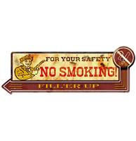 Fiftiesstore For Your Safety No Smoking Metalen Bord - 50 x 18 cm
