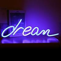 Theretrofamily Neon verlichting met de text Dream incl. USB kabel