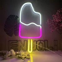 Theretrofamily Neon licht van ijsje voor aan de muur