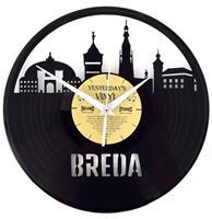 Fiftiesstore Vinyl Klok Skyline Breda - Gemaakt Van Een Gerecyclede Plaat