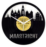 Fiftiesstore Vinyl Klok Skyline Maastricht - Gemaakt Van Een Gerecyclede Plaat