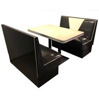 Retro Diner Set Vegas Zwart Wit Glitter 120 cm