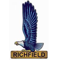 Fiftiesstore Richfield Gasoline Adelaar Zwaar Metalen Bord - 56 x 35 cm