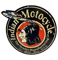 Fiftiesstore Indian Motorcycles Hendee - Metalen Bord 40 x 35 cm