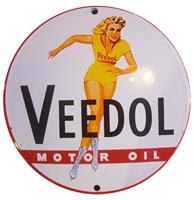 Fiftiesstore Veedol Motor Oil Emaille Bord - 13 cm ø