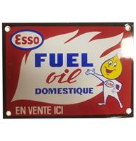 Fiftiesstore Esso Fuel Oil Domestique Emaille Bord - 15 x 11 cm