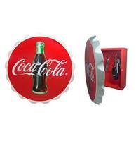 Fiftiesstore Coca-Cola Wood Contour Flessendop Sleutelkastje