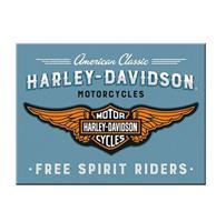 Fiftiesstore Harley-Davidson Logo Blue Magneet