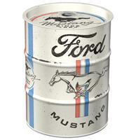 Fiftiesstore Spaarpot Oil Barrel Ford Mustang - Horse & Stripes Logo