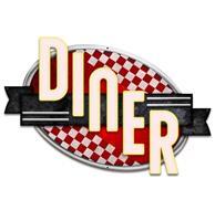 Fiftiesstore Diner Red Checkers Zwaar Metalen Bord - 61 x 41 cm