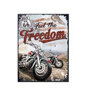 Fiftiesstore Magneet Route 66 Freedom