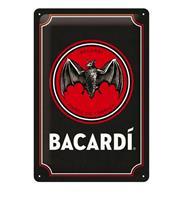 Fiftiesstore Tinnen Bord 20 x 30 Bacardi - Logo Black