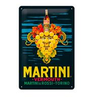 Fiftiesstore Tinnen Bord 20 x 30 Martini - Vermouth Grapes