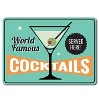 Fiftiesstore Cocktails Bord