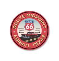 Fiftiesstore Route 66 Midpoint Novelty Bord