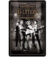 Fiftiesstore Legends Live Forever Metalen Bord - 20 x 30 cm