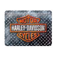 Fiftiesstore Tinnen Bord 15 x 20 Harley-Davidson - Diamond Plate