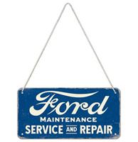 Fiftiesstore Hangend Bord 'Ford - Service & Repair'