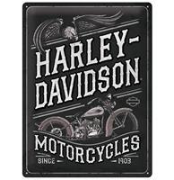 Fiftiesstore Harley-Davidson Motorcycles Adelaar Metalen Bord - 30 x 40 cm