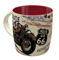 Fiftiesstore Mug Route 66 Bike Map