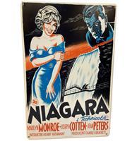 Fiftiesstore Marilyn Monroe Niagara Movie Poster Metalen Bord 29.5 x 44.5 cm