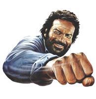 Fiftiesstore Bud Spencer Fist Metalen Bord 45 x 45 cm