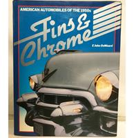 Fiftiesstore Boek - Fins & Chrome - Automobiles Of The 1950s - Hardcover - 1982