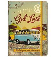 Fiftiesstore Notitieboek Volkswagen Bulli - Let's Get Lost