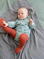 Fluwelen baby overall met print medium groen aop - 15-4706 tcx