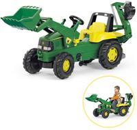 Tractor met Lader en Graafmachine van John Deere