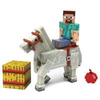 Minecraft Action Figure: Steve and Horse (White)