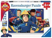 Ravensburger Brandweerman Sam Puzzel Sam Helpt Je Uit De Brand 2x24 Stukjes