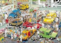 Jan van Haasteren - In de autospuiterij puzzel