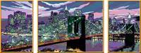 Schilderen op nummer Serie Tryptichon A Skyline van New York