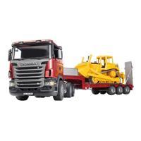 Bruder Scania R-Serie dieplader met Cat bulldozer