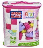 Mega Bloks First Builders - Big Building Bag (Roze), 60 stuks