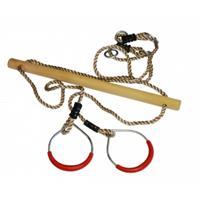 Express Trapeze hout met metalen ringen
