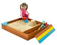 Plum zandbak met bergruimte hout