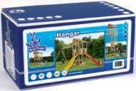 Houten speeltoestellen speeltoren bouwdoos Hangar
