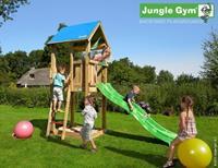 Houten speeltoestellen Jungle Hut met glijbaan