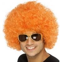 Diverse Oranje afro pruik 1st