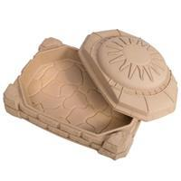 zandbak met deksel met zitplaatsen