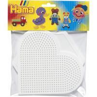 Hama Beads Strijkkralenbordjes - Hart En Zeshoek Groot