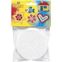 Hama Beads HAMA 2 Stiftpl. Vier./Kreis kl. i Beutel