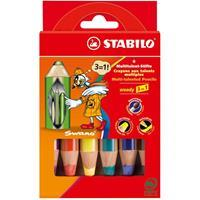 Stabilo Woody 3in1 Etui - 6 kleuren