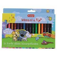 diverse Kleurpotlood  Woezel & Pip dik 16 kleuren